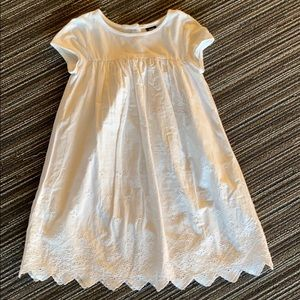 White eyelet tee shirt dress